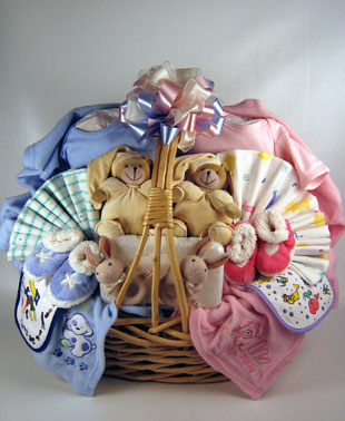Two of a Kind Twins Baby Gift Basket
